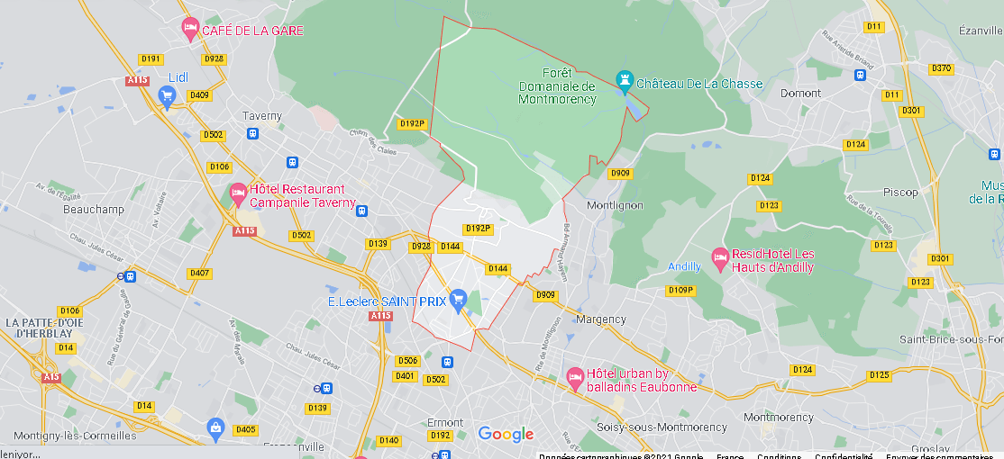 Carte Plan Saint-Prix