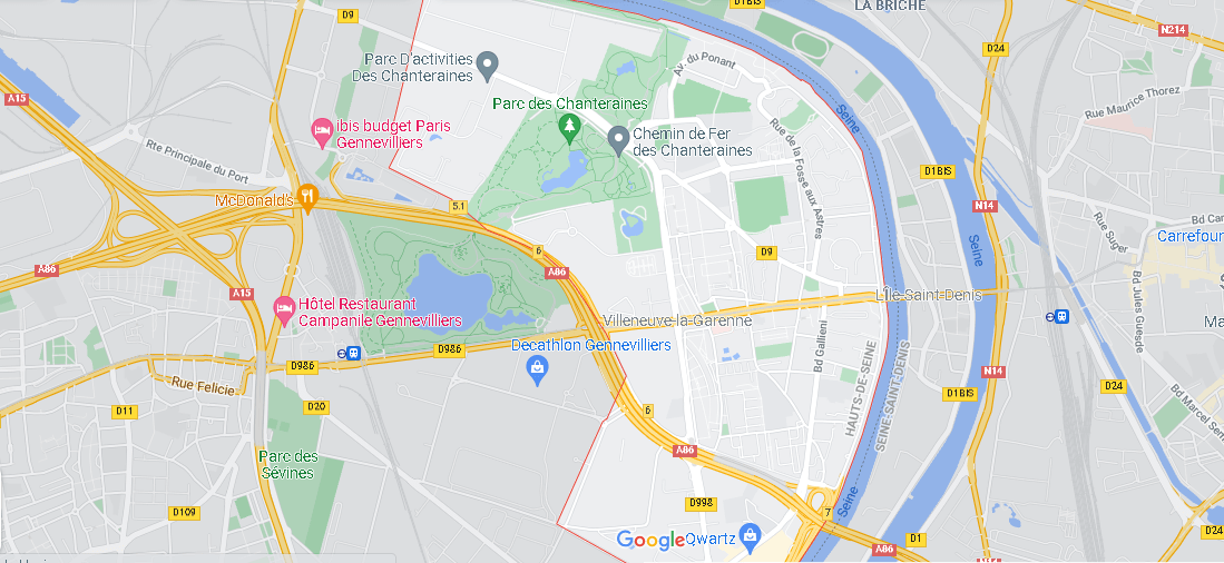 Carte Plan Villeneuve-la-Garenne