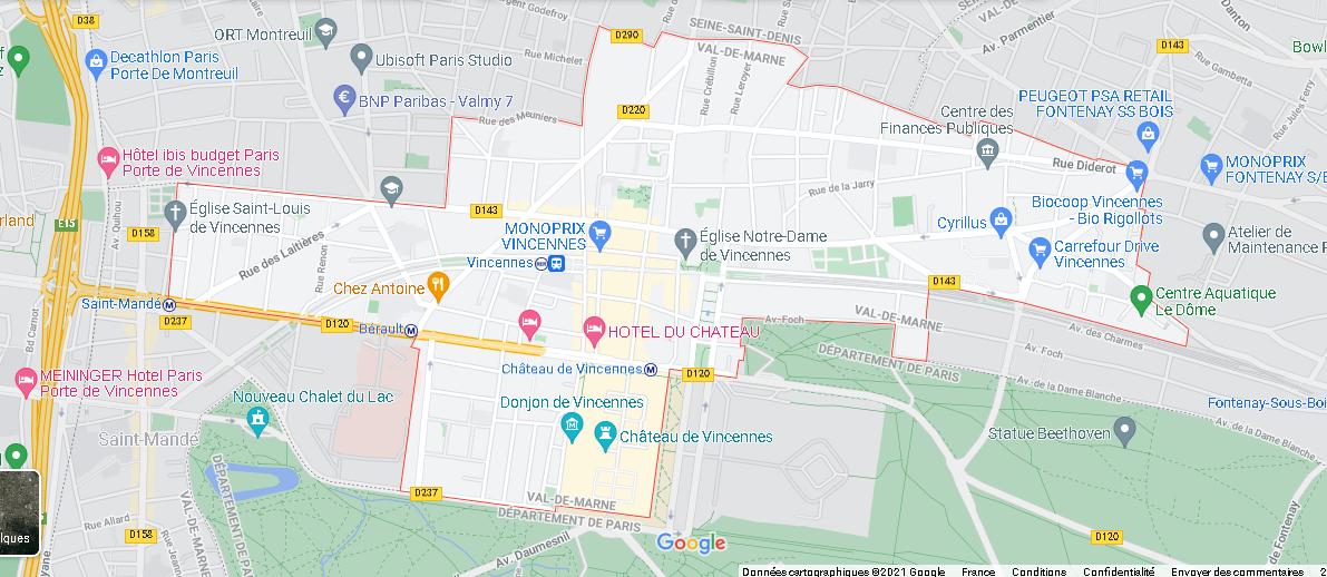 Carte Plan Vincennes