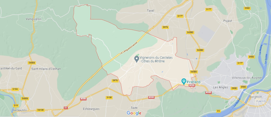 Carte Rochefort-du-Gard