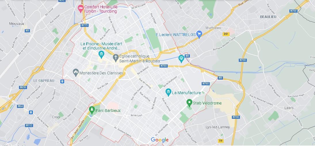 Carte Roubaix
