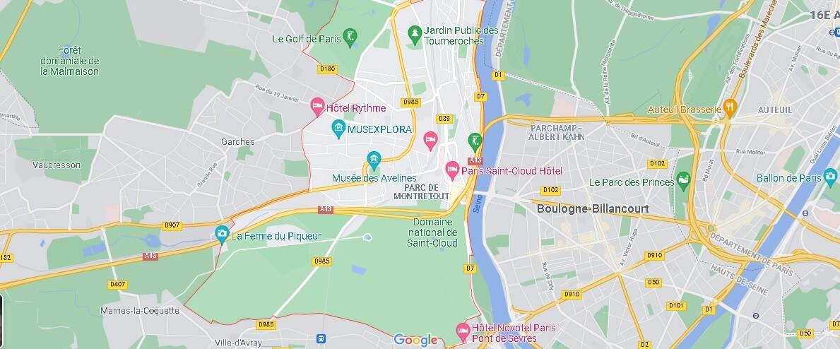 Carte Saint-Cloud