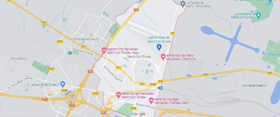 Carte Saint-Cyr-l-École