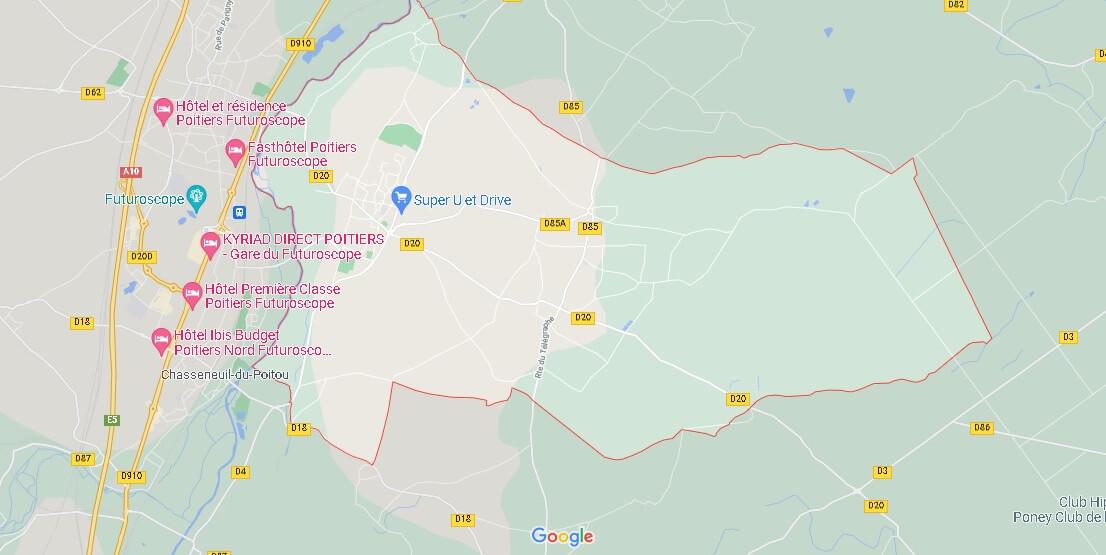 Carte Saint-Georges-lès-Baillargeaux