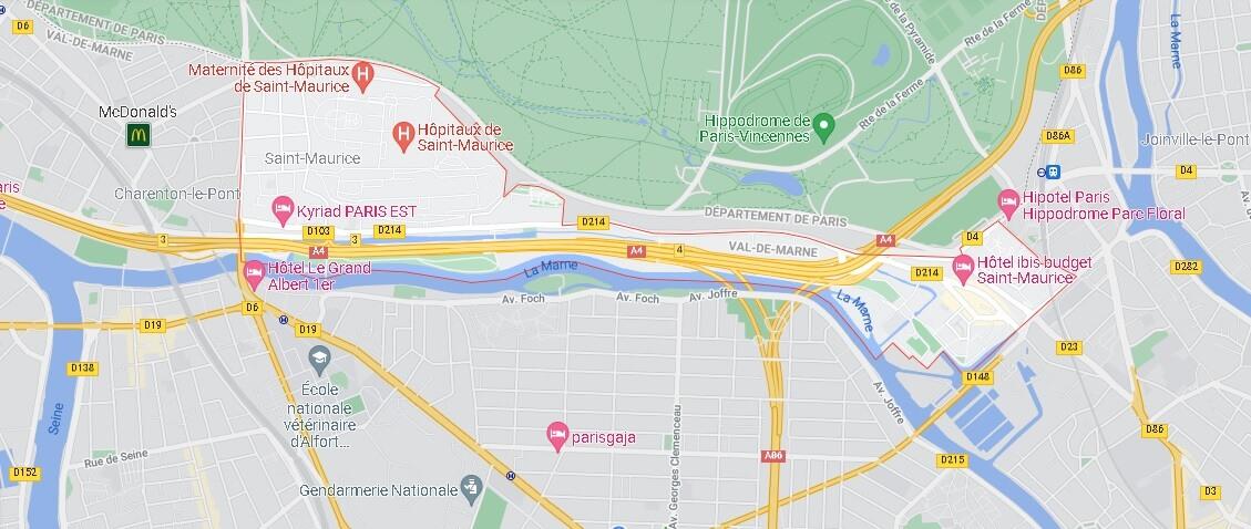 Carte Saint-Maurice