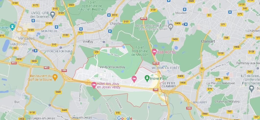 Carte Vélizy-Villacoublay
