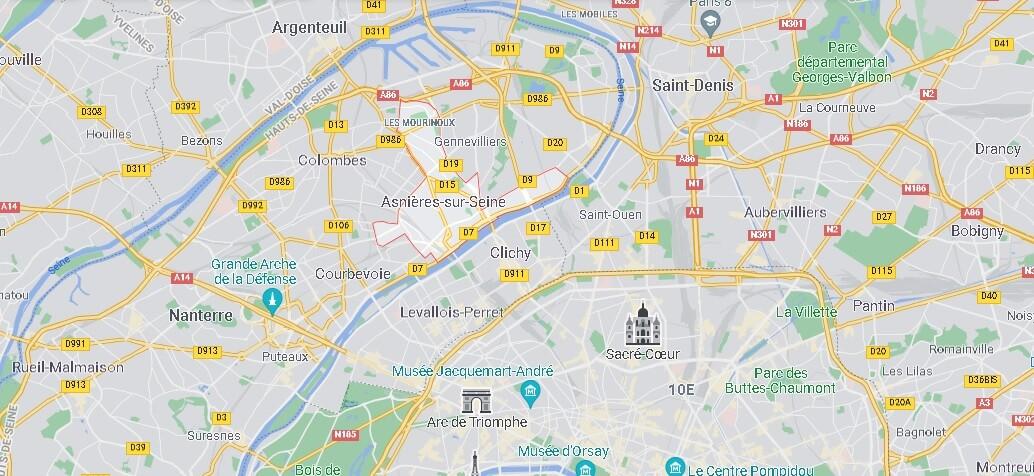 Dans quelle région se trouve Asnières-sur-Seine