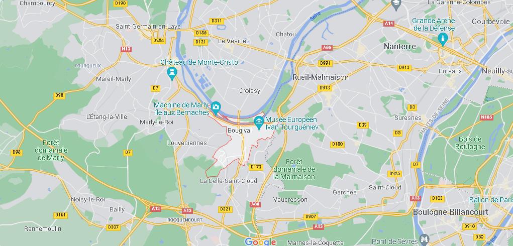Dans quelle région se trouve Bougival