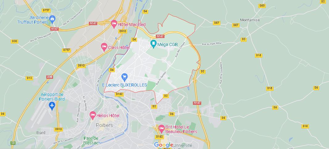Dans quelle région se trouve Buxerolles