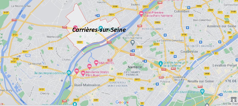 Dans quelle région se trouve Carrières-sur-Seine
