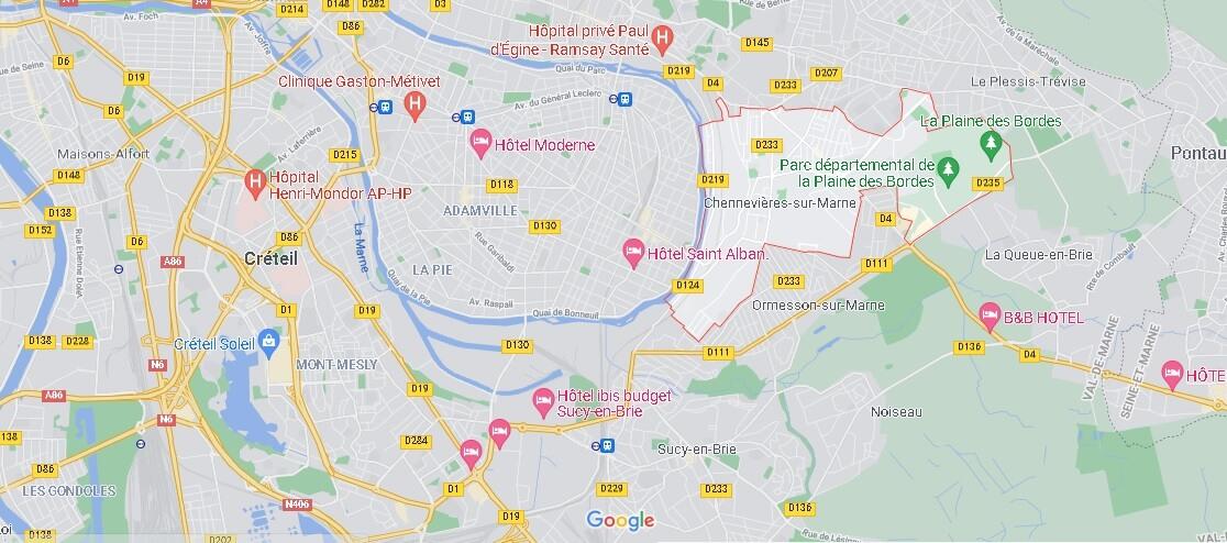 Dans quelle région se trouve Chennevières-sur-Marne
