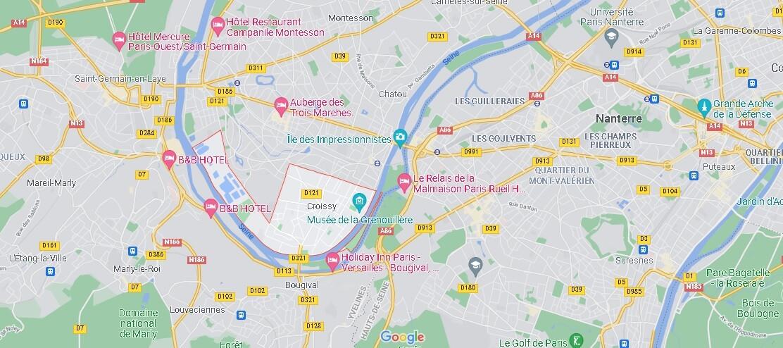 Dans quelle région se trouve Croissy-sur-Seine