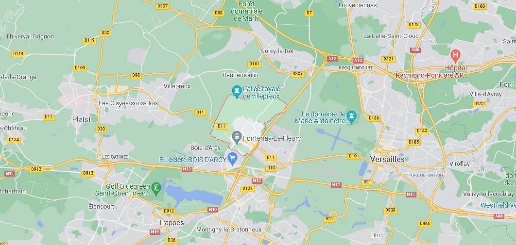 Dans quelle région se trouve Fontenay-le-Fleury