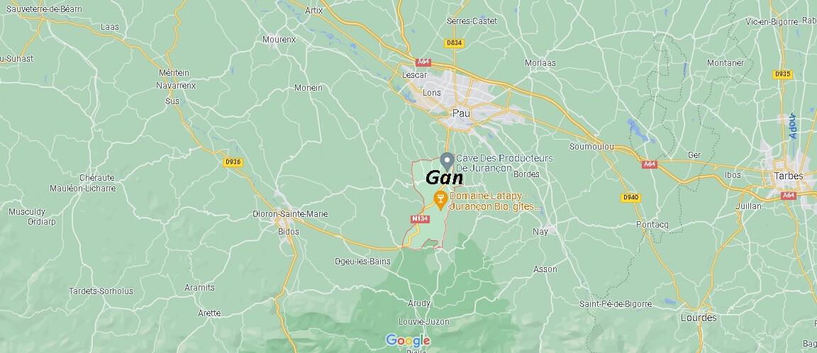 Dans quelle région se trouve Gan