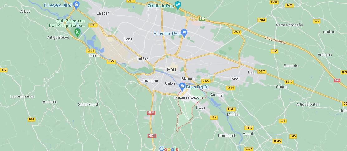 Dans quelle région se trouve Mazères-Lezons
