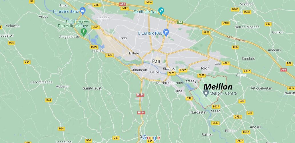 Dans quelle région se trouve Meillon