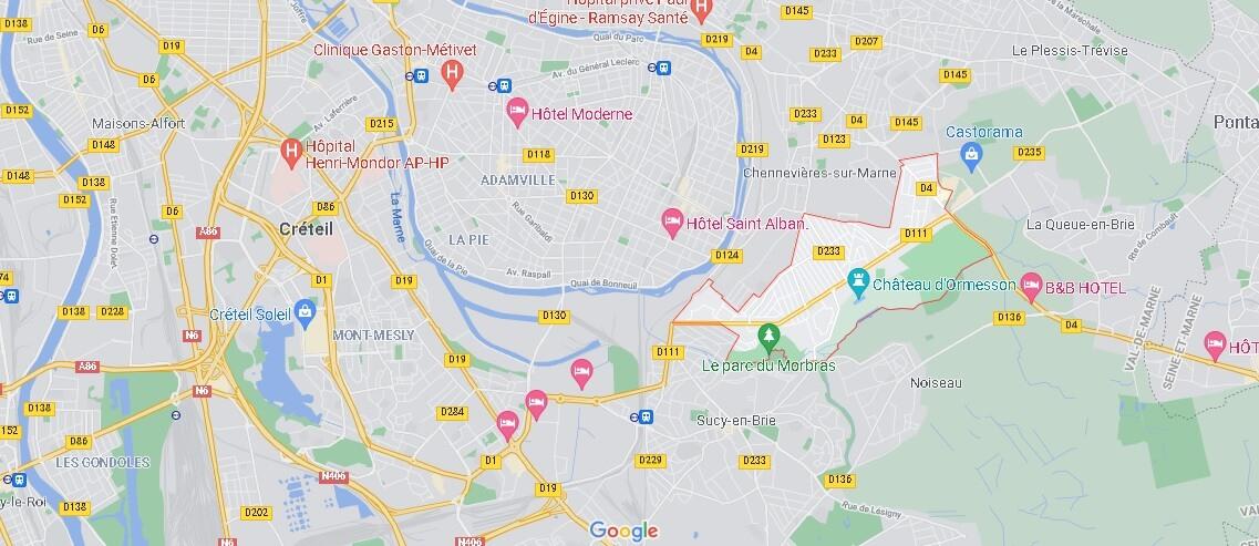 Dans quelle région se trouve Ormesson-sur-Marne