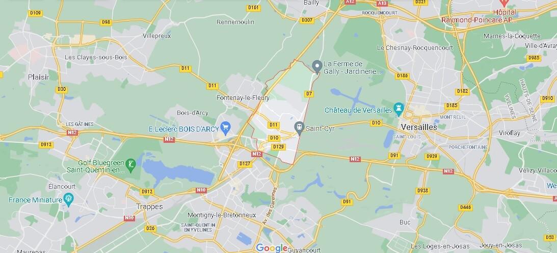 Dans quelle région se trouve Saint-Cyr-l-École