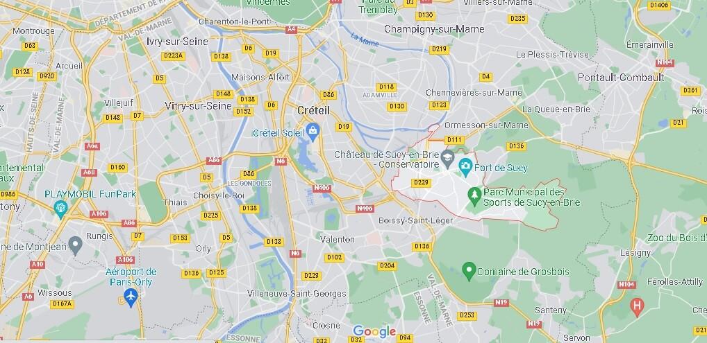 Dans quelle région se trouve Sucy-en-Brie