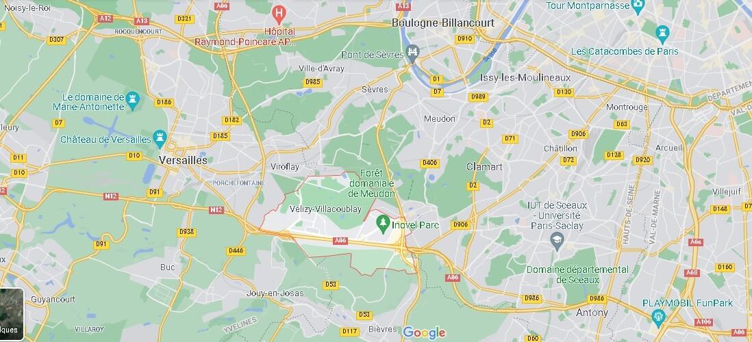 Dans quelle région se trouve Vélizy-Villacoublay