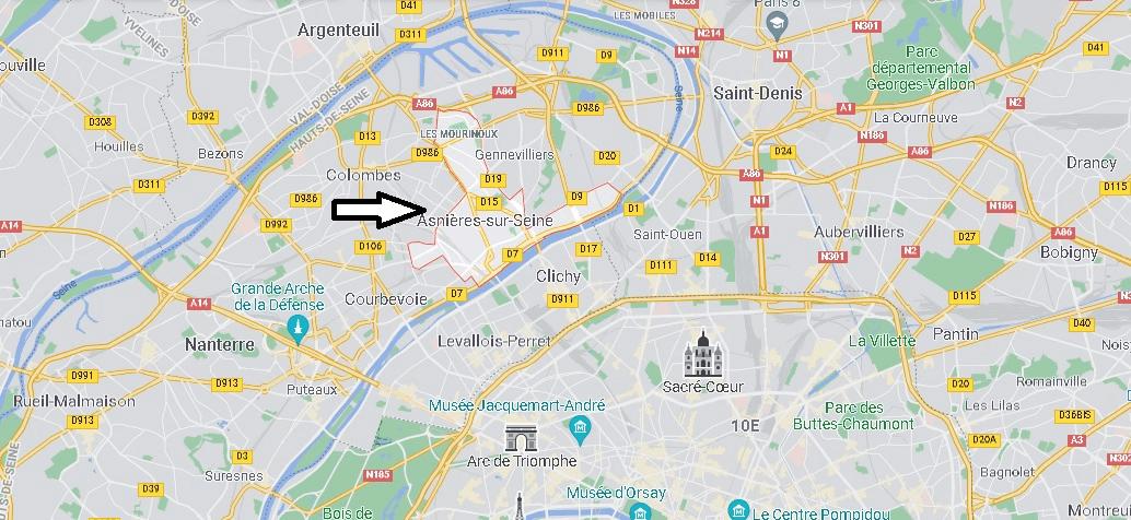 Où se situe Asnières-sur-Seine (Code postal 92600)