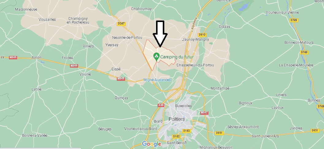 Où se situe Avanton (Code postal 86170)