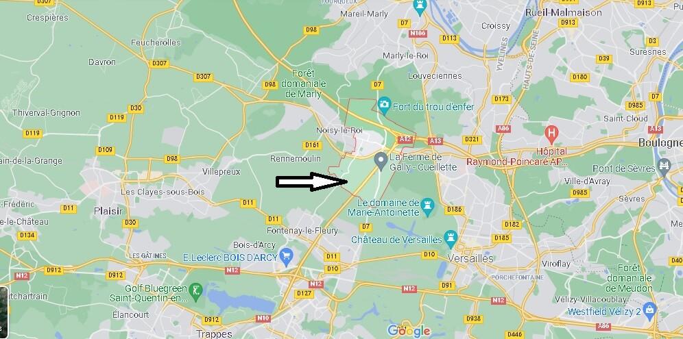 Où se situe Bailly (Code postal 78870)
