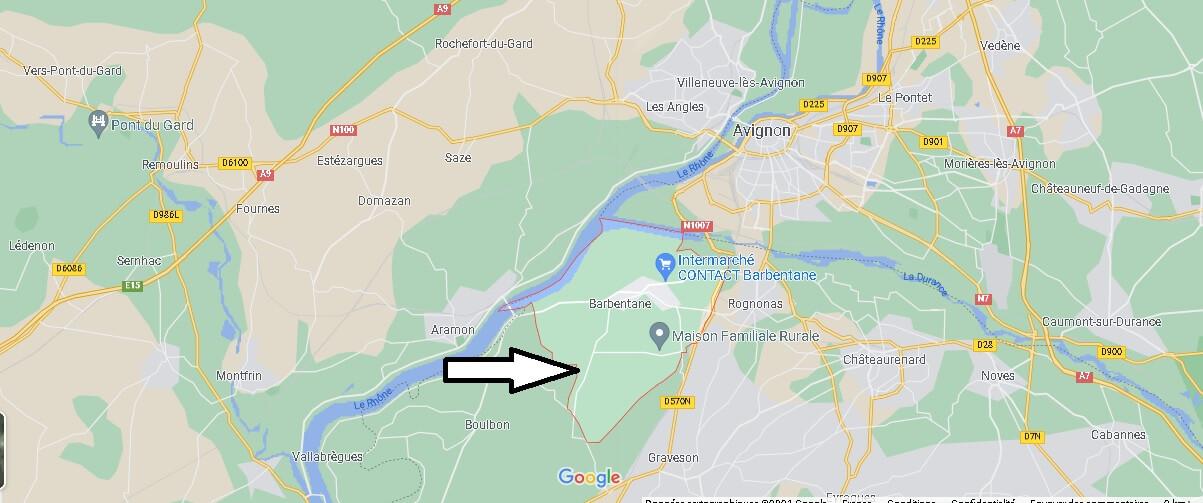 Où se situe Barbentane (Code postal 13570)