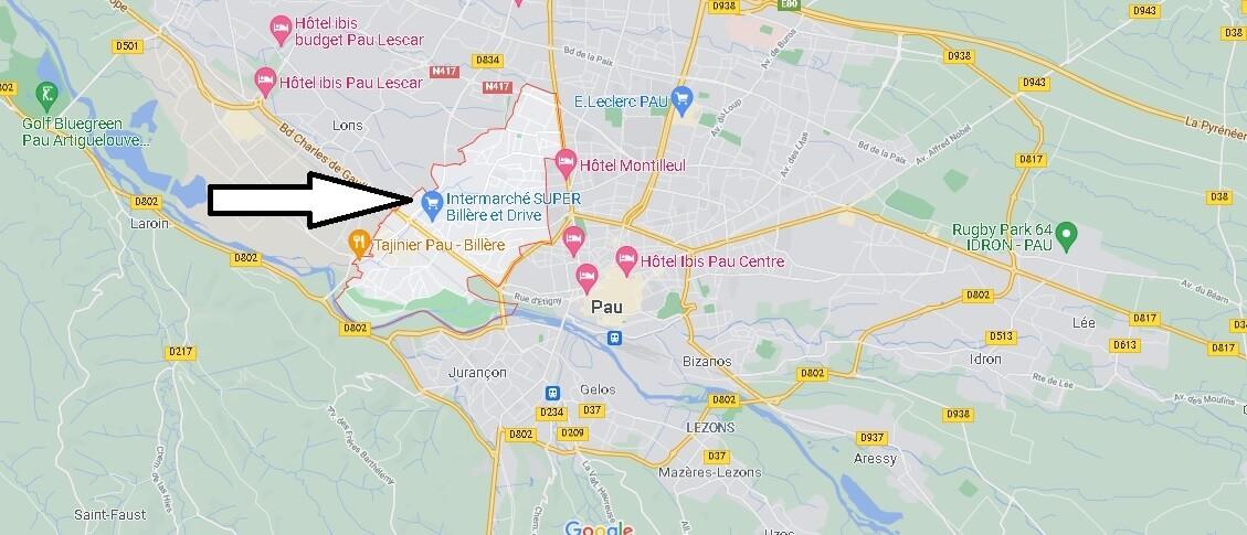 Où se situe Billère (Code postal 64140)