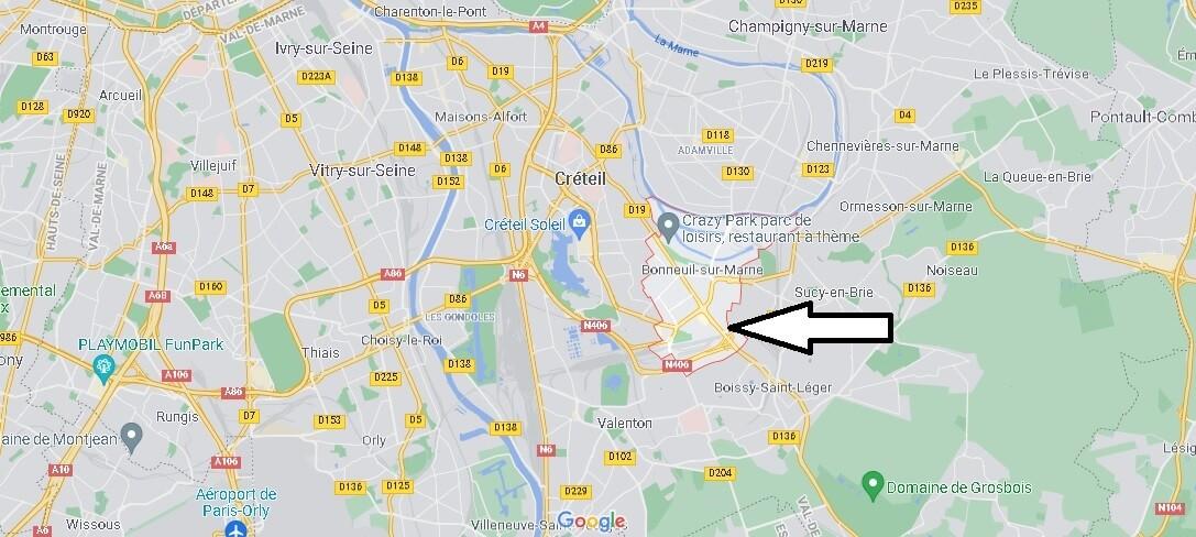 Où se situe Bonneuil-sur-Marne (Code postal 94380)