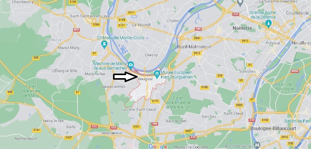 Où se situe Bougival (Code postal 78380)