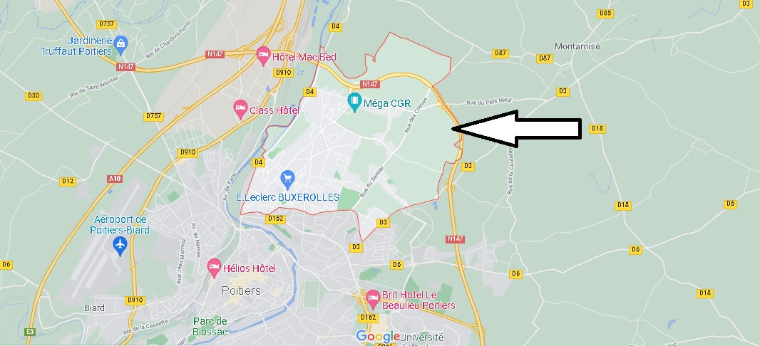 Où se situe Buxerolles (Code postal 86180)