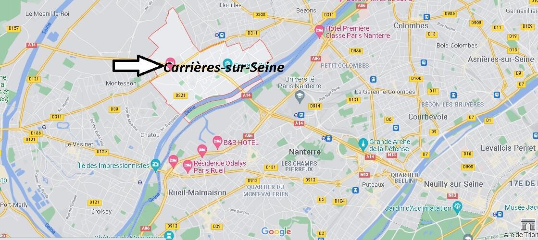 Où se situe Carrières-sur-Seine (Code postal 78420)