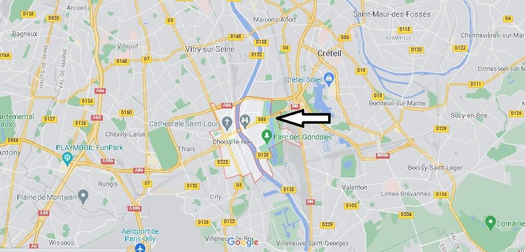 Où se situe Choisy-le-Roi (Code postal 94600)