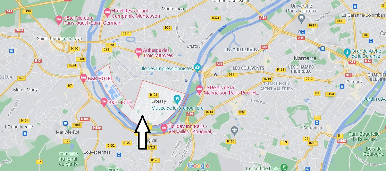 Où se situe Croissy-sur-Seine (Code postal 78290)