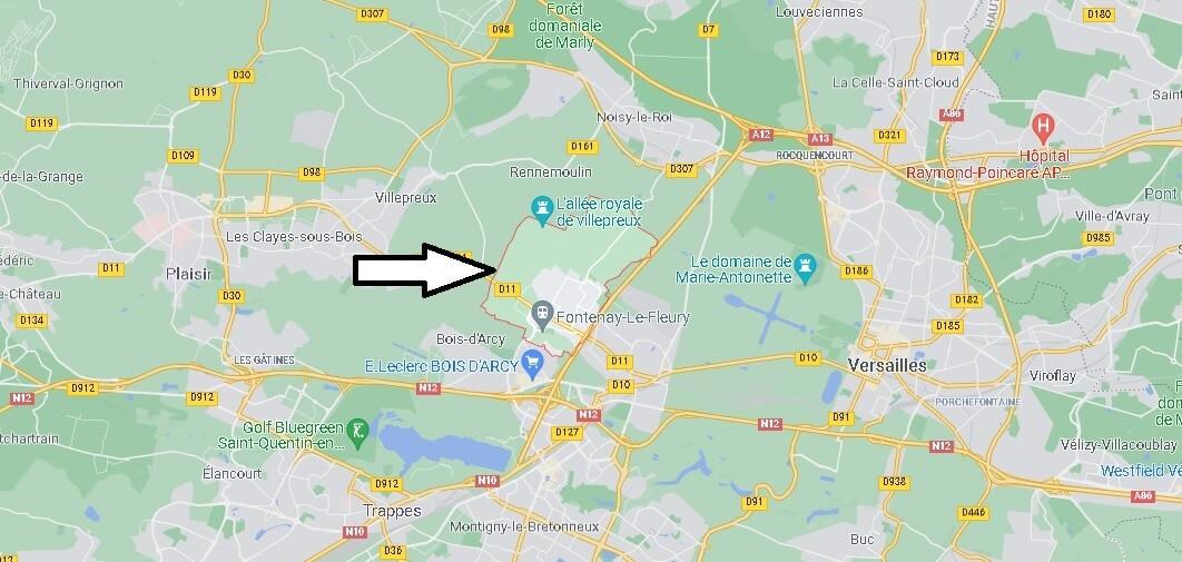 Où se situe Fontenay-le-Fleury (Code postal 78330)