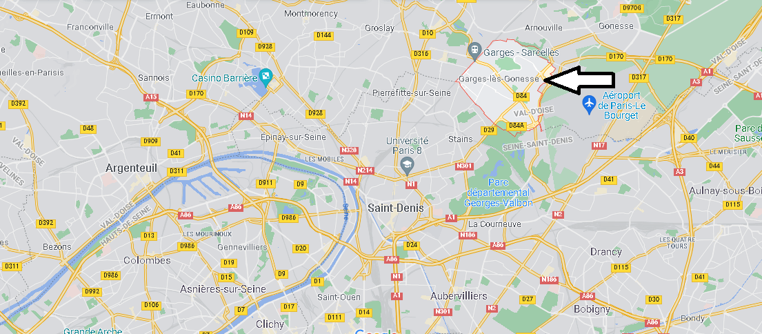 Où se situe Garges-lès-Gonesse