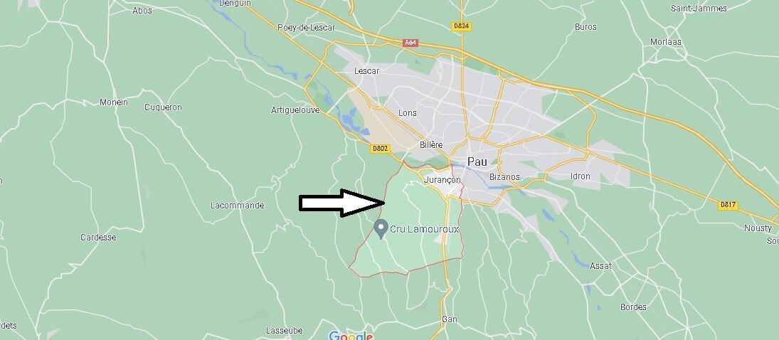 Où se situe Jurançon (Code postal 64110)