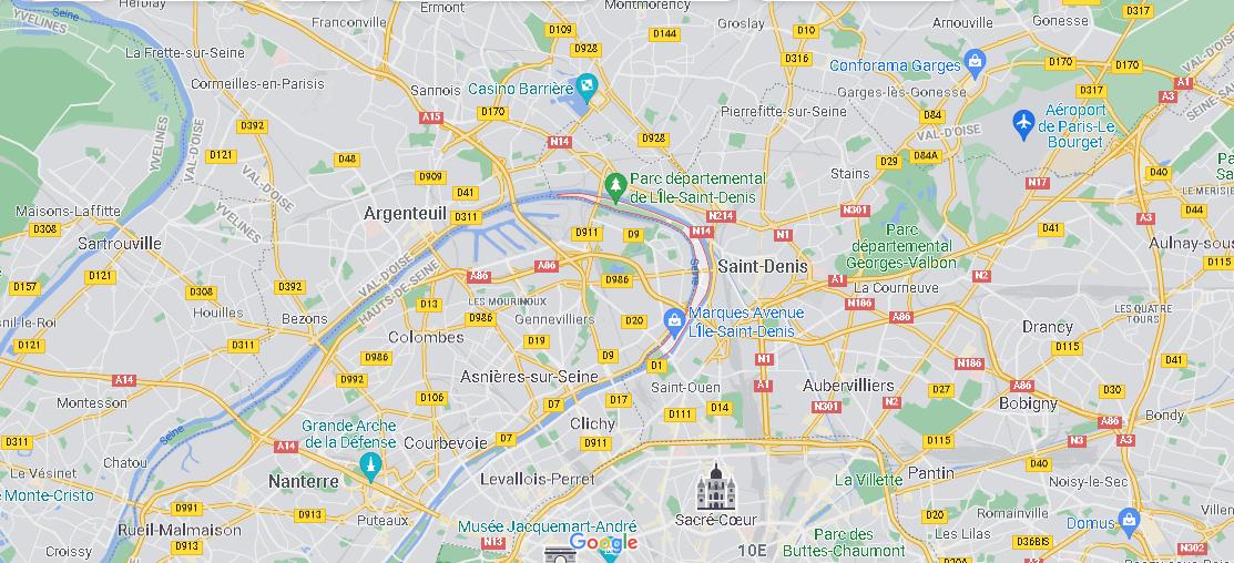 Où se situe L Île-Saint-Denis
