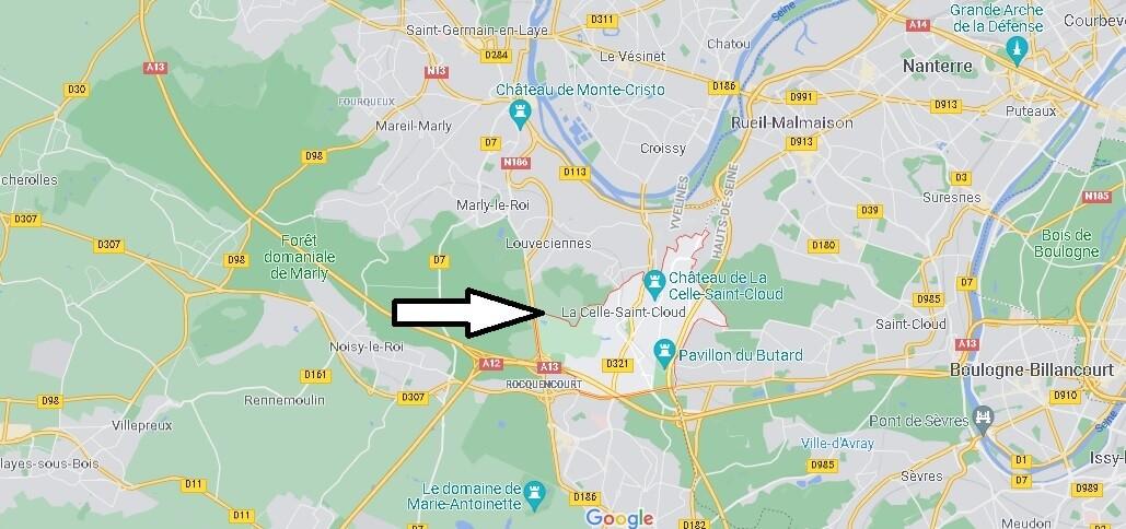Où se situe La Celle-Saint-Cloud (Code postal 78170)