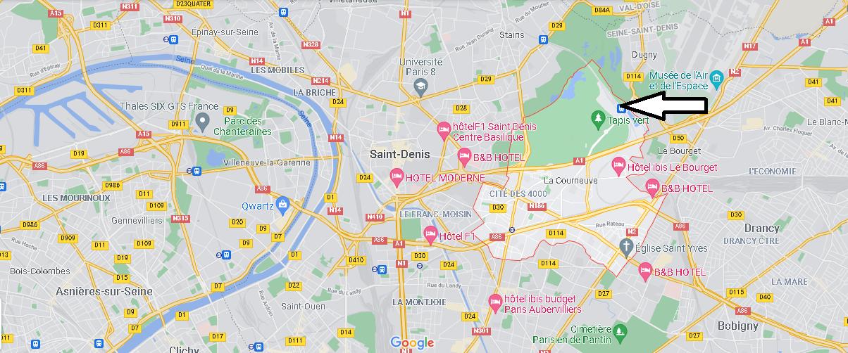 Où se situe La Courneuve