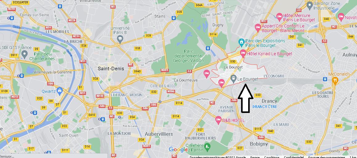 Où se situe Le Bourget