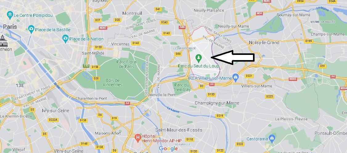Où se situe Le Perreux-sur-Marne (Code postal 94170)