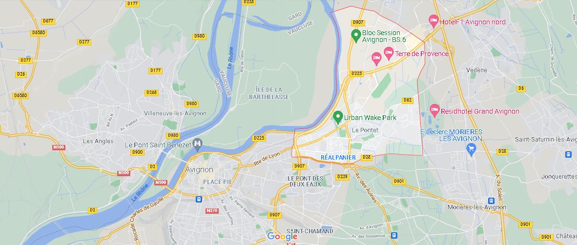 Où se situe Le Pontet (Code postal 84130)