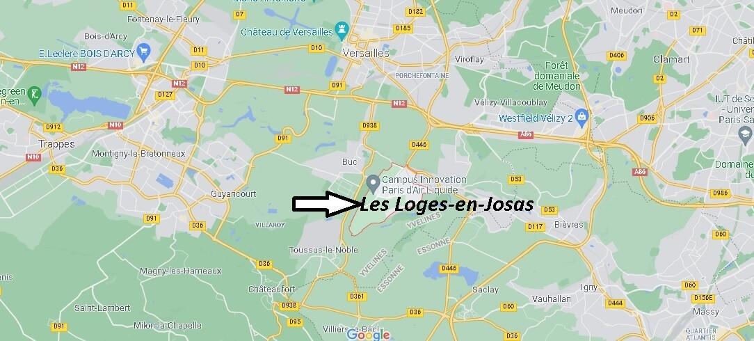 Où se situe Les Loges-en-Josas (Code postal 78350)