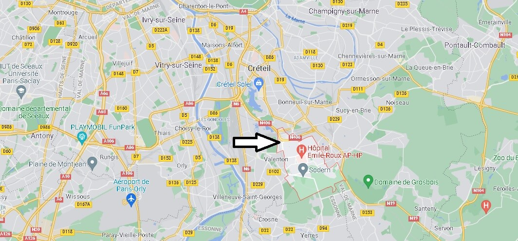 Où se situe Limeil-Brévannes (Code postal 94450)