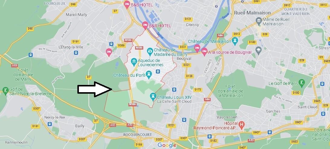 Où se situe Louveciennes (Code postal 78430)