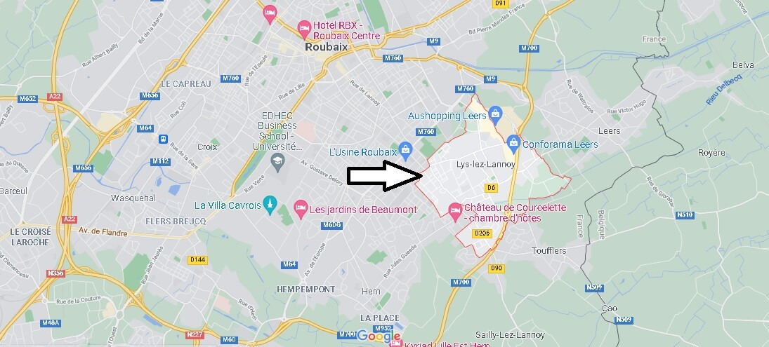 Où se situe Lys-lez-Lannoy