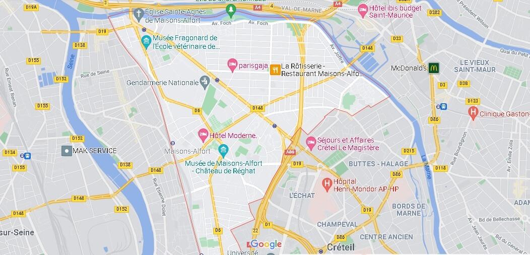 Où se situe Maisons-Alfort (Code postal 94700)