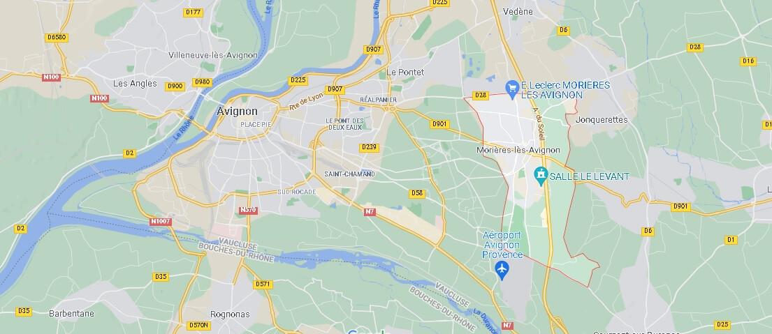 Où se situe Morières-lès-Avignon (Code postal 84310)